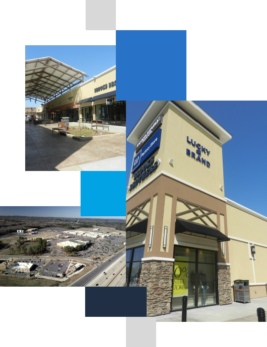Storefront image and aerial view of area.